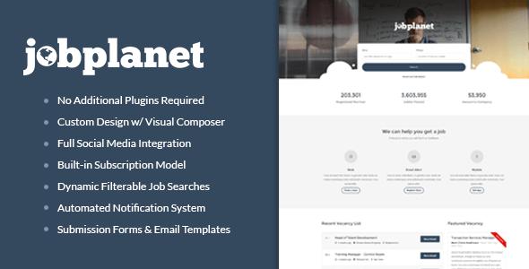 Download Jobplanet - Responsive Job Board WordPress Themes Job WordPress Themes