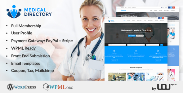 Download Medical Directory - Hospitals & Doctors Listing Theme Hospital WordPress Themes