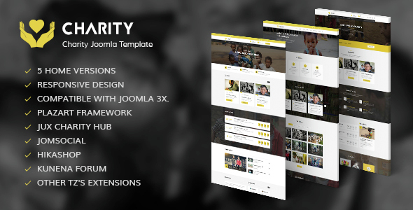 Download Charity - Nonprofit, Fundraising Joomla Template Event Joomla Templates