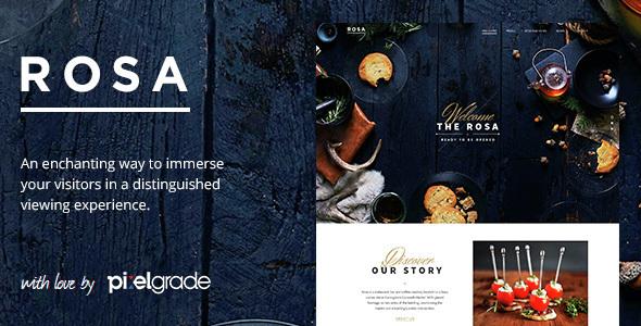 Download ROSA - An Exquisite Restaurant WordPress Theme Restaurant Wordrpess Themes