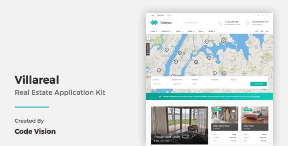 Download Villareal - Real Estate Application Kit Portal Html Templates