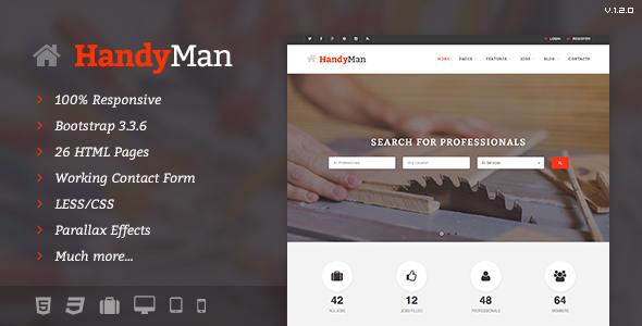 Download Handyman - Job Board HTML Template Job Html Templates