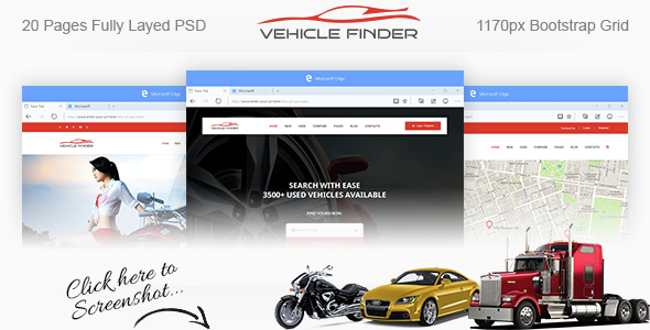 Download Vehicle Finder and Booking PSD Template Car Joomla Templates