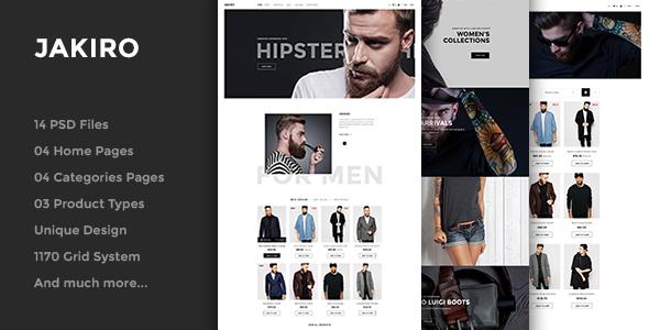 Download Jakiro - Fashion PSD Template Black Joomla Templates