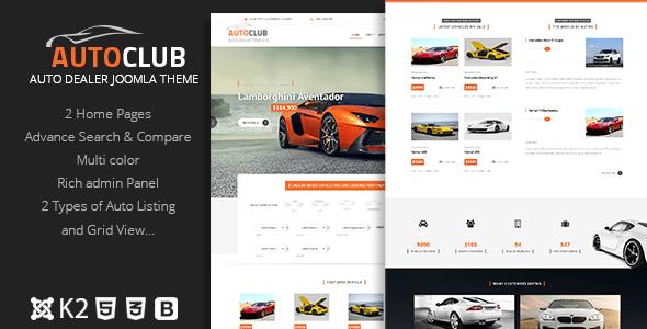 Download Auto Club - Responsive Car Dealer Joomla Template Car Joomla Templates