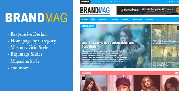 Download Brand Mag - Responsive Blogger News/Magazine Grid Blogger Templates