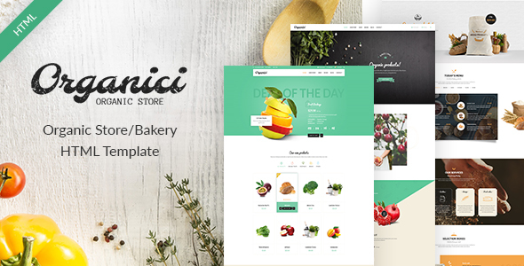 Download Organici - Organic Store/Bakery eCommerce Template Fast Load Html Templates
