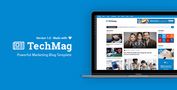 Download TechMag - News and Magazine BootStrap Template Job Blogger Templates