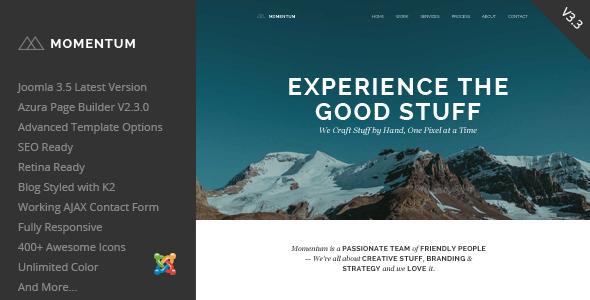 Download Momentum - Simple Creative OnePage Joomla Template Simple Joomla Templates