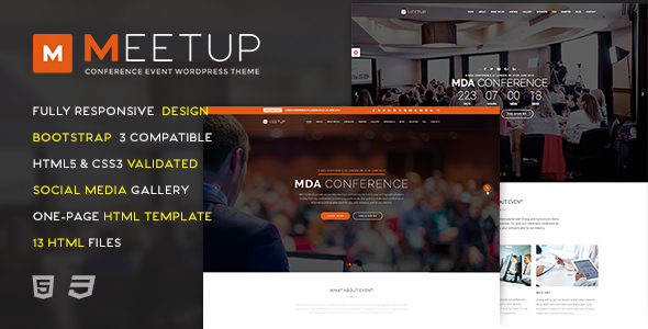 Download Meetup - Conference Event HTML Template Event Html Templates