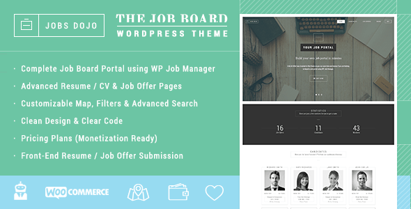 Download JobsDojo - The WordPress Job Board Portal Theme Job WordPress Themes