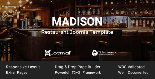 Download Madison - Joomla Restaurant Template Restaurant Joomla Templates