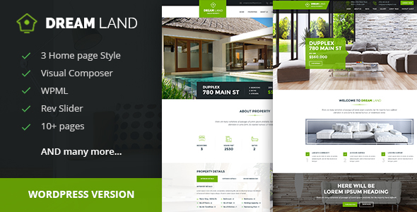 Download DREAM LAND- Single Property Real Estate WordPress Theme Property WordPress Themes