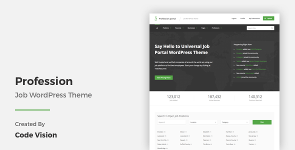 Download Profession - Job WordPress Theme Job WordPress Themes
