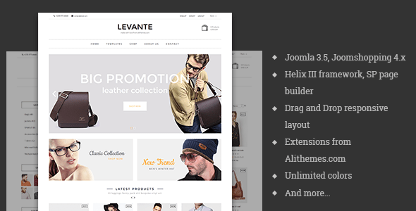 Download Levante - eCommerce Joomla Template Ecommerce Joomla Templates