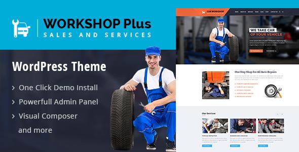 Download WorkshopPlus - WorkShop Car Services WordPress Theme Car WordPress Themes