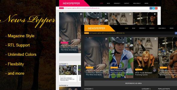 Download NewsPepper - Responsive Blogger Magazine Portal Blogger Templates
