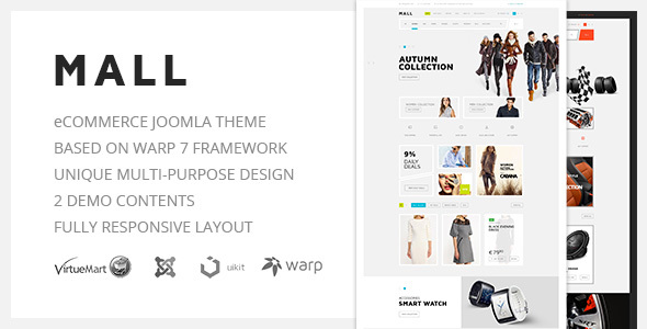 Download Mall — Multi-Purpose eCommerce Responsive Joomla Template Ecommerce Joomla Templates