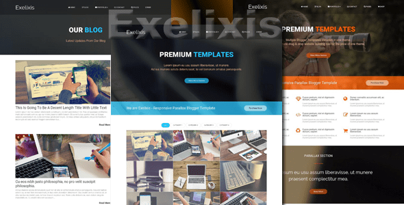 Download Exelixis - Responsive Blogger Template Responsive Blogger Templates
