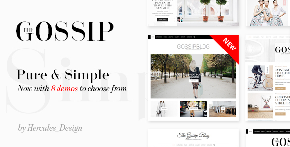 Download GossipBlog - Pure & Simple Personal WordPress Blog Music Blogger Templates
