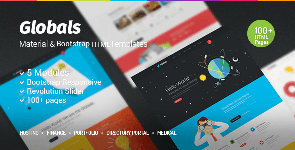 Download Globals - Material & Bootstrap HTML Template Portal Html Templates