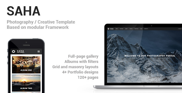 Download Saha - Photography / Creative Portfolio Template Fast Load Html Templates