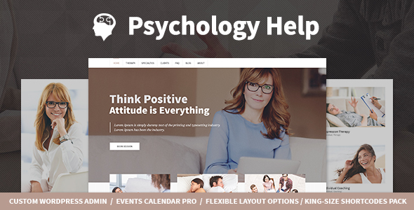 Download Psychology Help - Medical WordPress Theme for Psychologist and Mental Therapy Hospital WordPress Themes
