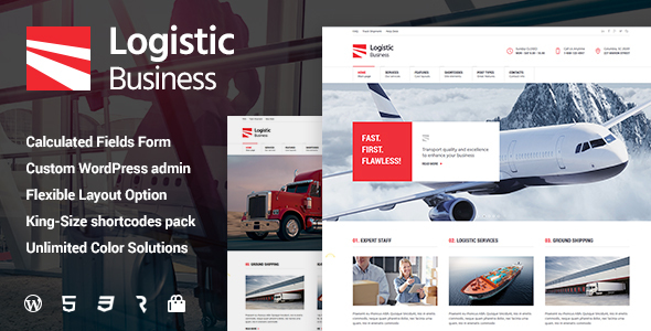 Download Logistic Business - Transport & Trucking Logistics WordPress Theme Amp WordPress Themes