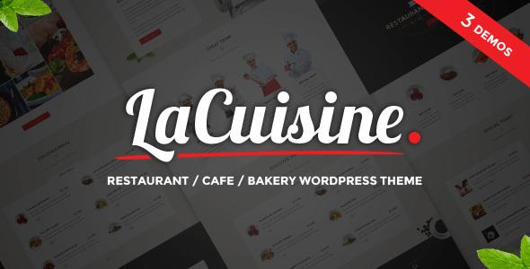 Download LaCuisine - Restaurant WordPress Theme Restaurant Wordrpess Themes