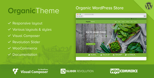 Download ORGANIC | Organic Farm & Food Business WordPress Theme Organization WordPress Themes