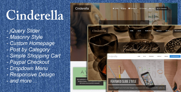 Download Cinderella - Responsive Blogger Template Store Blogger Templates