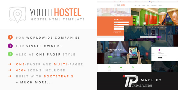 Download Youth Hostel - Travel & Hotel HTML Template Hotel Html Templates