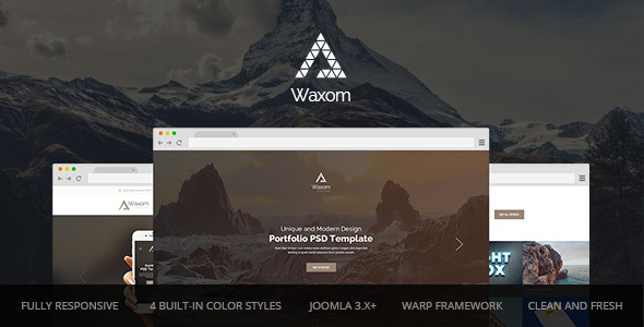 Download Waxom — Clean and Universal Responsive Joomla Template  Elegant Joomla Templates