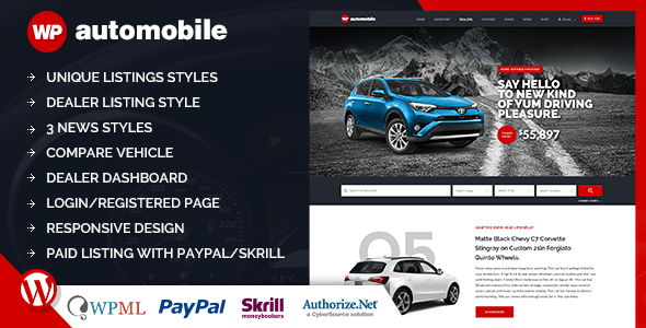 Download AutoMobile | Responsive Car Dealer WordPress Theme  Car WordPress Themes