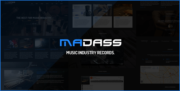 Download Madass - Music Industry HTML Template Music Html Templates