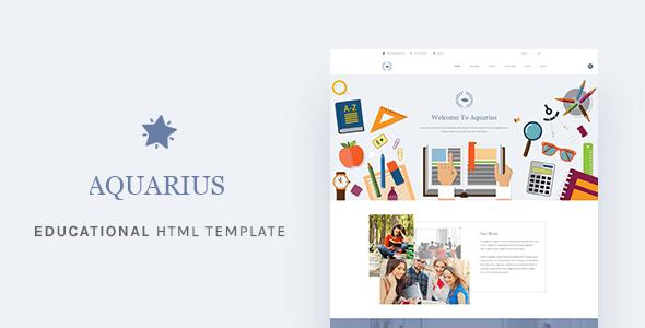 Download Aquarius - Educational University HTML Template University Html Templates