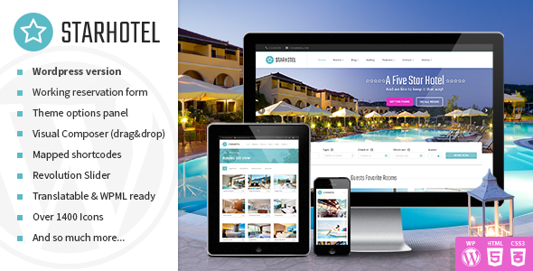 Download Starhotel - Hotel WordPress Theme Hotel WordPress Themes