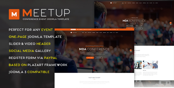 Download MeetUp Conference Event Joomla Template Event Joomla Templates