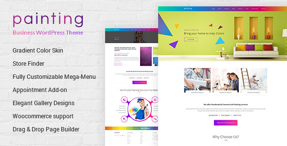 Download Paint - Painting Company WordPress Theme Company WordPress Themes