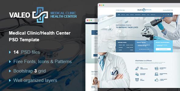Download Valeo - health center, clinic & hospital PSD template Hospital Joomla Templates
