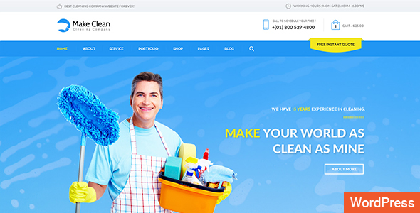 Download Make Clean - Cleaning Company WordPress Theme Company WordPress Themes
