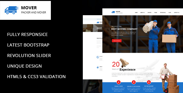 Download Movers - Company HTML Template Company Html Templates