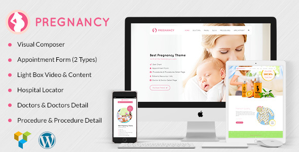 Download Pregnancy Medical - Health, Medical, Gynecologist Theme Hospital WordPress Themes