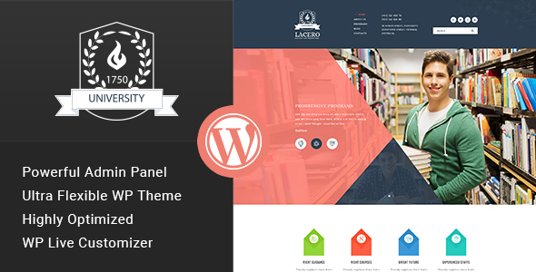 Download Lacero - Education & University WordPress Theme University WordPress Themes