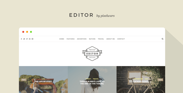 Download Editor - A WordPress Theme for Bloggers Pinterest WordPress Themes
