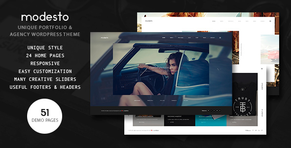 Download Modesto - Portfolio, Photography, Agency Powerful WordPress Theme Amp WordPress Themes