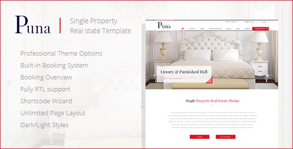 Download Puna - WordPress Single Property Real estate Theme Property WordPress Themes