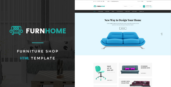 Download Furnhome - Furniture Shop eCommerce HTML Template Furniture Html Templates