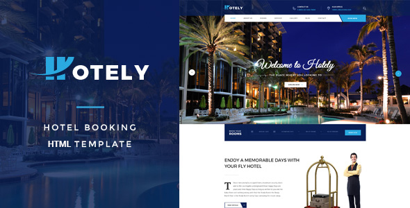 Download Hotely - Hotel Booking & Travel HTML Template Travel Html Templates