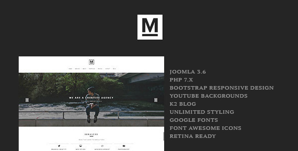 Download Max - Creative & Minimal One Page Joomla Template Simple Joomla Templates